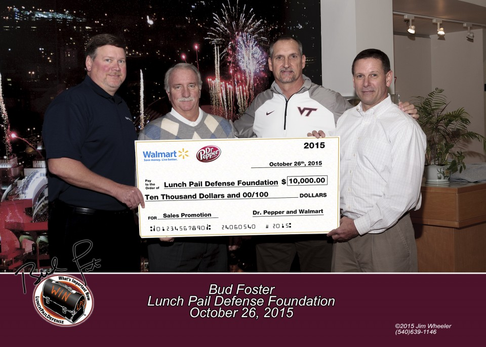 LPDF Donation Check Presented by Dr. Pepper and Wal-Mart image